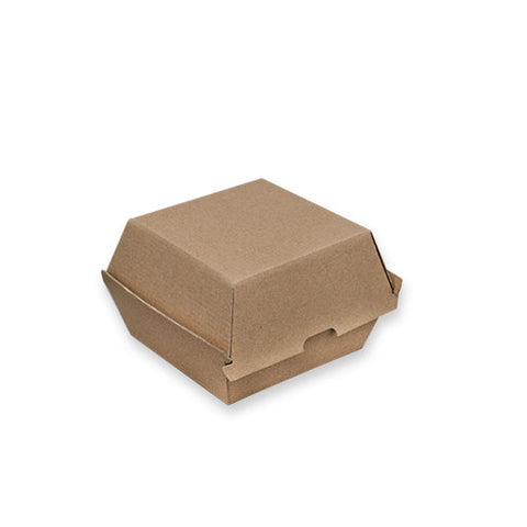 TP Paper Board Burger Box - 105 x 105 x 85mm - Kraft