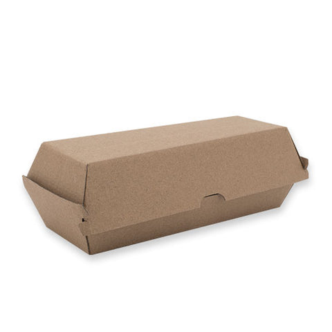 TP Paper Board Hot Dog Box - 208 x 70 x 75mm- Kraft