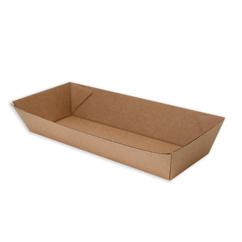 TP Paper Board Open Hot Dog Tray - 205 x 70 x 40mm- Kraft