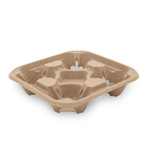 TP Moulded Fibre Carry Trays - 2 & 4 Cup