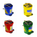 NAB Mop Buckets - 16lt Heavy Duty - Yellow, Red, Green, & Blue