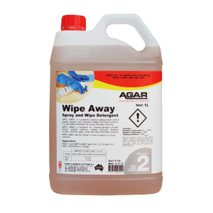 Agar Wipe Away - Spray and Wipe Detergent - 5L