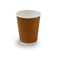 GF Double Wall Coffee Cup - Kraft