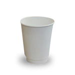 GF Single Wall Coffee Cups - White