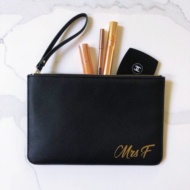 Clutch Bag Mrs Initial