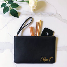 Load image into Gallery viewer, Clutch Bag Mrs Initial