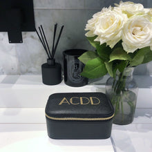 Load image into Gallery viewer, Black Personalised Jewellery Box Art Deco Initials