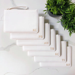 Clutch Bag Bold Initials