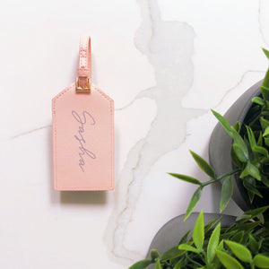 Luggage Tag With Script Name