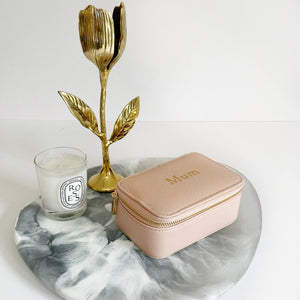 Pale Pink Jewellery Box Roman Initials