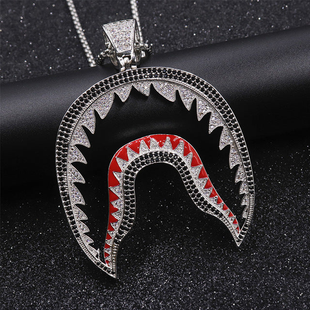 Shark Mouth Pendant Necklace