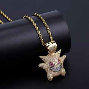 Punk Charms Chain Pendant Necklace