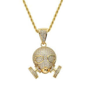 Robot Shape Pendant Necklace