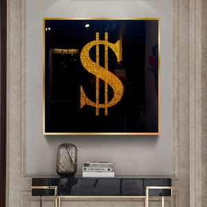 Golden Dollar Money Painting