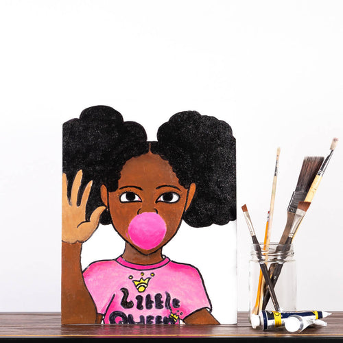Livinci The Artist - BubbleGum Black Girl Magic Series Painting - Sacramento . Shop