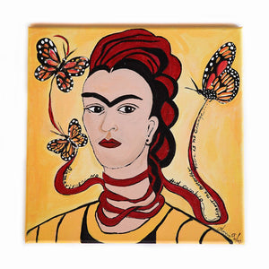 Maggie Devos - Frida and Butterflies Wall Art