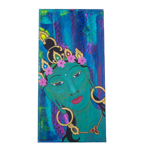 Chandra Merod - Goddess Tara, Wall Art Mixed Media Painting, Wall Art, Chandra Merod, Sacramento . Shop