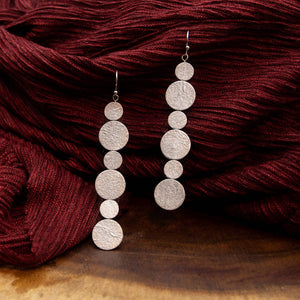 Susan Twining Creations - Silver Six Dots Earrings