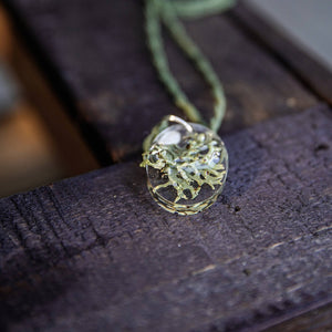 Succulent Sirens- Lichen Is Not A Plant Pendant Hemp Necklace