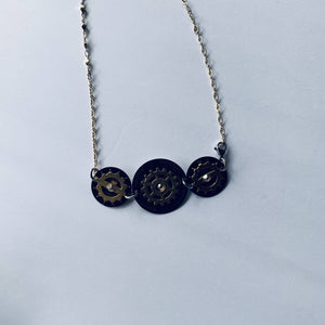 Joyce Pierce- 3 Black Watch Dial Necklace