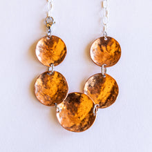 Load image into Gallery viewer, Joyce Pierce - Five Round Hand Hammered Copper Necklace, Jewelry, Joyce Pierce, Sacramento . Shop