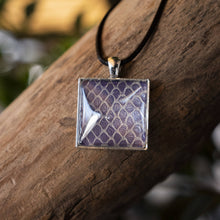 Load image into Gallery viewer, Nekkid Snek Jewelry - Purple Square Corn Snake Pendant - Sacramento . Shop