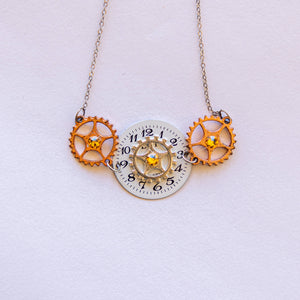 Joyce Pierce - Vintage Round Watch With Dial Gears Necklace - Sacramento . Shop
