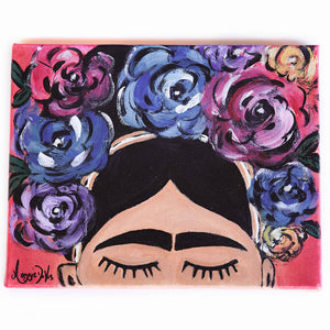 Maggie Devos - Frida Flower and Crown, Wall Art