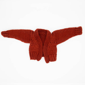 HandMade Magic - Red Knitted Cardigan, Dolls Clothing