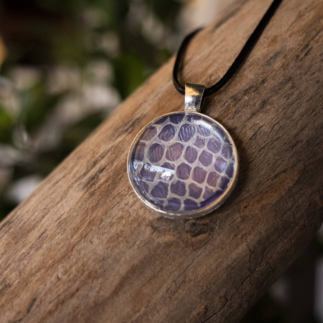 Nekkid Snek Jewelry - Purple Circle Corn Snake Pendant - Sacramento . Shop