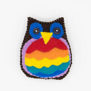HandMade Magic - Stuffed Pride Owl Cushion, Soft Toy