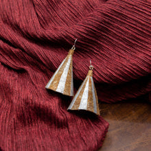 Load image into Gallery viewer, Susan Twining Creations - Textured Gold and Silver Cone Earrings