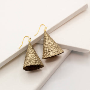 Susan Twining Creations - Textured Gold Cone Earrings