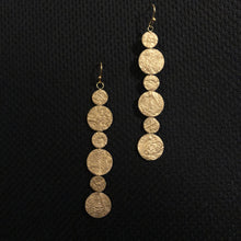 Load image into Gallery viewer, Susan Twining Creations - Gold Six Dot Earrings
