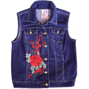 Maggie Devos - Dark Blue, Denim, Jean Vest