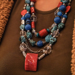Maggie Devos - Multi Strand Statement Necklace