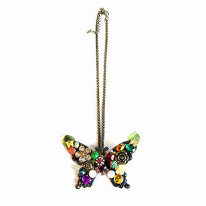 Maggie Devos - Jeweled Butterfly Necklace
