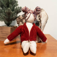 Load image into Gallery viewer, HandMade Magic - Red Knitted Cardigan, Dolls Clothing