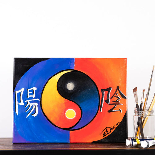 Livinci The Artist - Yin & Yang Day & Night Painting - Sacramento . Shop