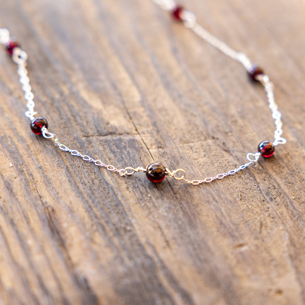 Joyce Pierce - Simplicity Garnet Necklace, Jewelry, Joyce Pierce, Sacramento . Shop