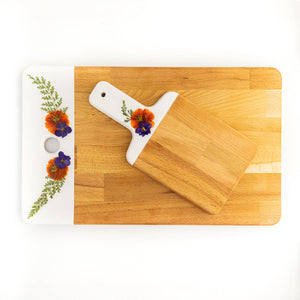 Awkwood Things - Preserved Flower Cutting Board Set