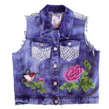 Load image into Gallery viewer, Maggie Devos - Embellished Denim Jean Vest