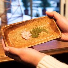 Load image into Gallery viewer, Awkwood Things - Small Trinket Dish w/ Preserved Flowers
