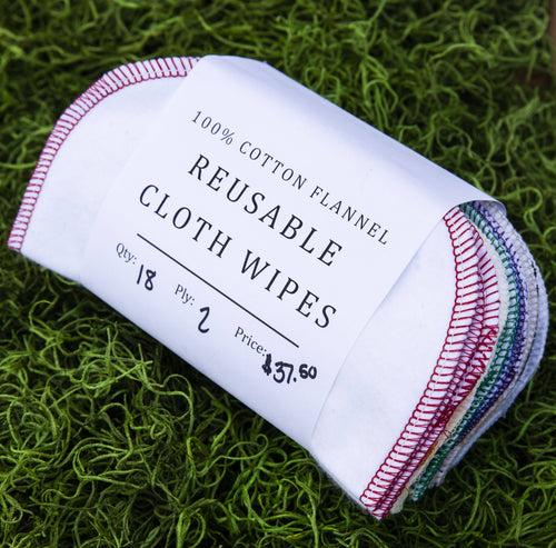 Miche Niche - 100% Cotton Flannel Reusable Cloth Wipes, Wellness and Beauty, Miche Niche, Sacramento . Shop