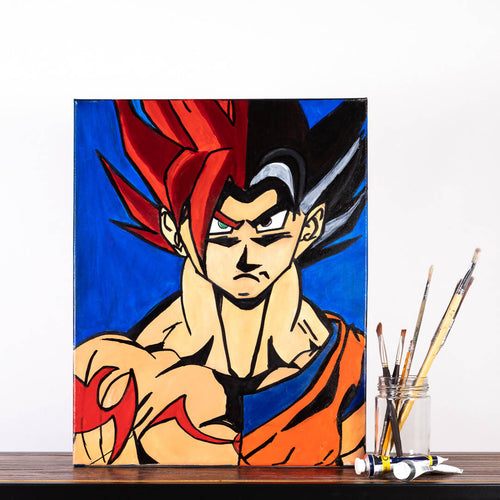 Livinci The Artist - Goku Super Saiyan Red Painting - Sacramento . Shop