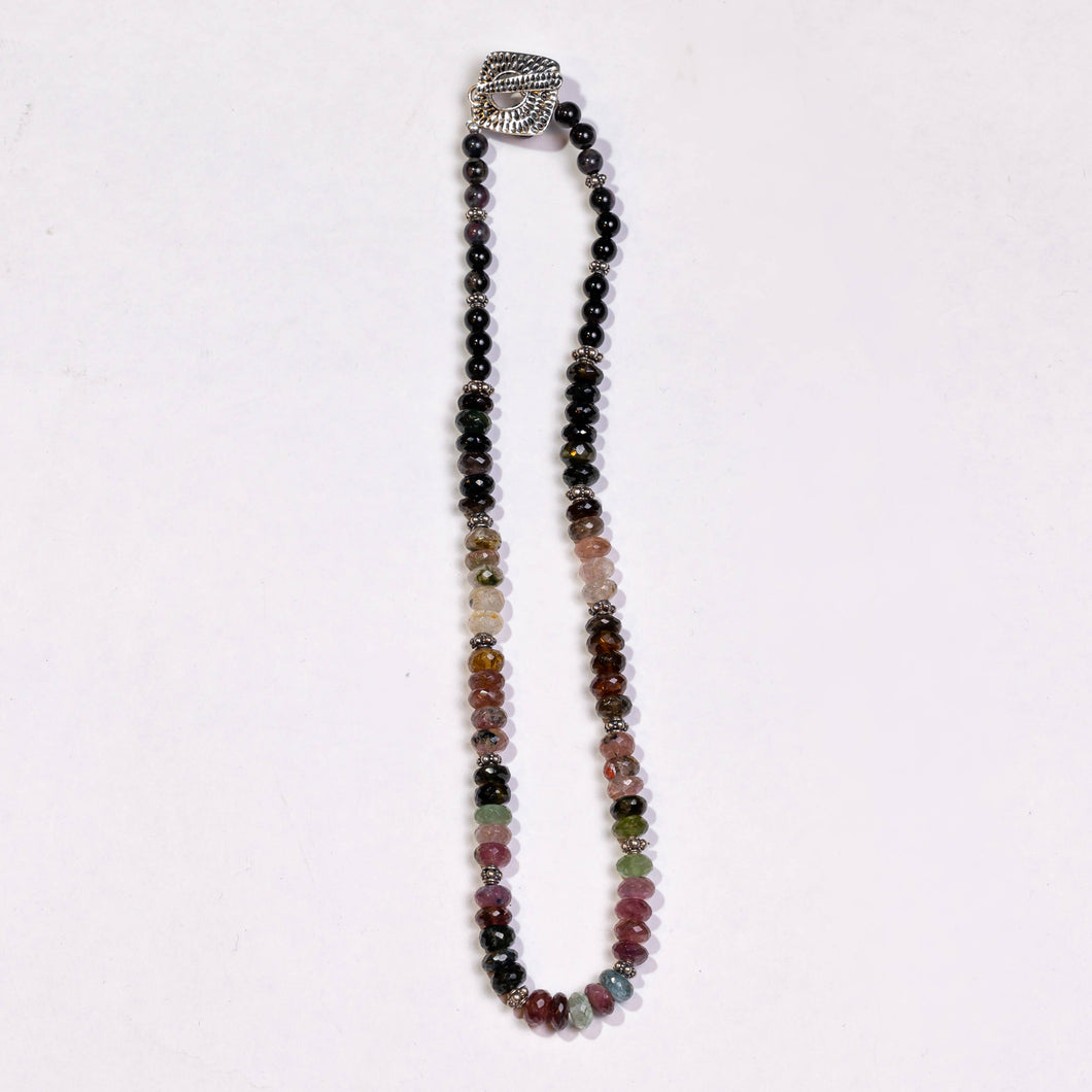 Lori Sparks- Bali Silver Tourmaline Necklace