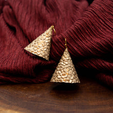 Load image into Gallery viewer, Susan Twining Creations - Textured Gold Cone Earrings
