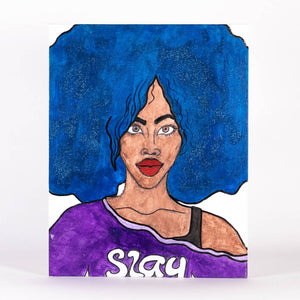 Livinci The Artist - Slay Black Girl Magic Series Painting, Wall Art, Livinci The Artist, Sacramento . Shop