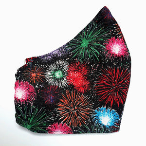Jean Stone- Fireworks on Black Mask - Sacramento . Shop
