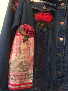 "Maggie Devos - Frida Jacket ""Feet what do I need you for"" Size XL-XXL"